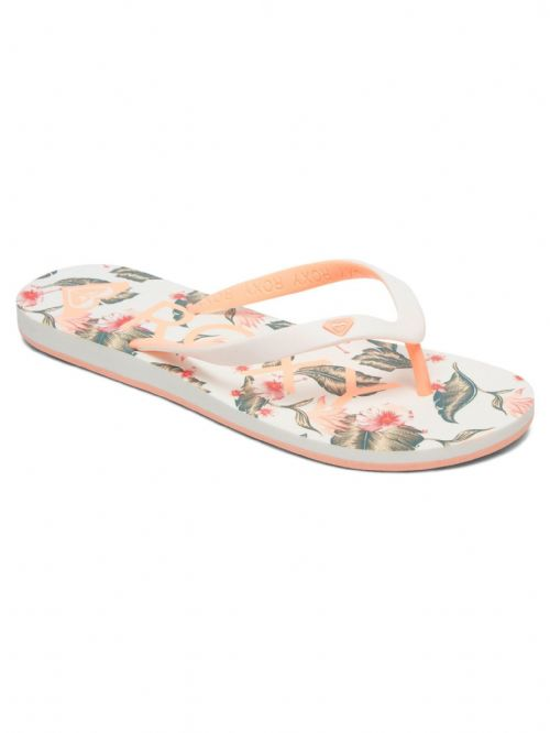 ROXY WOMENS FLIP FLOPS.NEW TAHITI VI FLORAL FLOWERED THONGS BEACH SANDALS 9S 69G